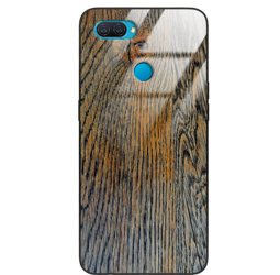 Etui drewniane Oppo A12 Old Fashion Wood Rust Forestzone Glass