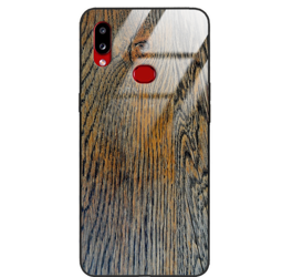 Etui drewniane Samsung Galaxy A10s Old Fashion Wood Rust Forestzone Glass