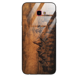 Etui drewniane Samsung Galaxy J4 Plus 2018 Premium Wood Góry Forestzone Glass